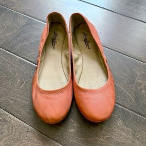 Lucky Brand Emmie Flats Salmon Pink Leather 9
